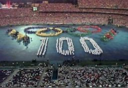 The opening ceremonies of the Centennial Olympic Games in Atlanta in July 1996 ©AFP-IOPP/Don EMMERT