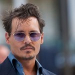 Johnny Depp on the set of 'Mortdecai' in London