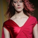 Runway hair: feathery locks at Alexis Mabille