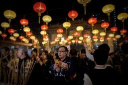 Asia rings in Year of the Horse with fireworks, festivities