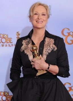 Meryl Streep at the 69th annual Golden Globe Awards ©AFP PHOTO / Robyn BECK