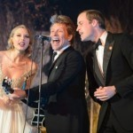 Prince William rocks out with Bon Jovi and Taylor Swift
