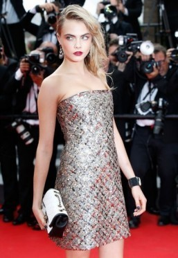 Cara Delevingne stepped off the catwalk in 2015. ©AFP PHOTO / VALERY HACHE