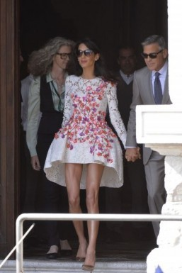 'That dress' designer revealed as Mrs. Clooney shows fashion force