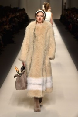 Head-to-toe fur at Fendi - Fall-Winter 2015-2016 ready-to-wear collection ©GIUSEPPE CACACE / AFP