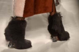Fur shoes at Fendi - Fall-Winter 2015-2016 ready-to-wear collection ©GIUSEPPE CACACE / AFP