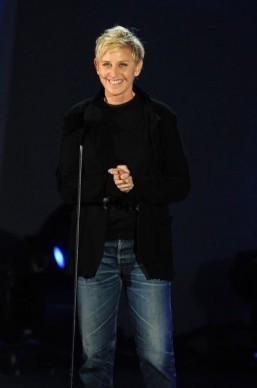 A few weeks ahead of hosting the 86th Oscars ceremony, Ellen DeGeneres has been named America's favorite TV personality. ©AFP PHOTO / ROBYN BECK
