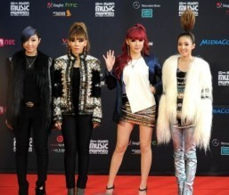Korean pop group 2NE1 © AFP PHOTO/Mohd Fyrol