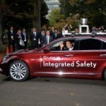 Japan PM Abe rides around Tokyo in self-driving vehicles