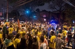 World Cup's winners, losers converge in hip streets