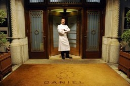 French chef Daniel Boulud poses at the entrance at his flagship restaurant 'Daniel' in New York. ©AFP PHOTO/Emmanuel Dunand