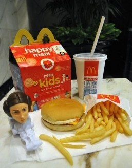 Instead of a toy, kids in the US will get a book with their Happy Meal next month. ©AFP PHOTO/Karen BLEIER