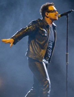 Bono's band U2 will unveil its new single on February 2 during the Super Bowl. ©AFP PHOTO / Rogerio BARBOSA