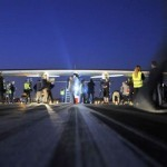 Solar plane takes off on cross-country US trip