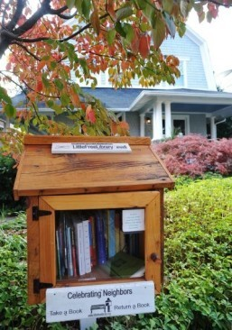 Take a book, leave a book: tiny libraries thrive in US