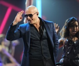 Pitbull performs on stage at the 14th annual Latin Grammy Awards, November 21, 2013 at the Mandalay Bay Resort and Casino in Las Vegas, Nevada. ©AFP PHOTO / Robyn Beck
