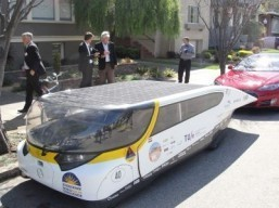 Solar-powered family car Stella rides California coast