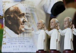 Pop-up popes, Lego basilica welcome Francis to US