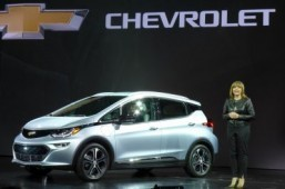 GM unveils Bolt electric car in Vegas