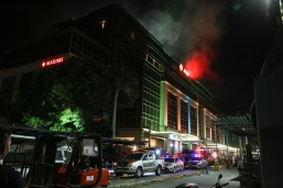 Fire broke out on Friday at the Resorts World Manila casino where a gunman fired his weapon and set fire to casino tables causing panic among guests.  At least 54 people were brought to different hospitals after the attack.(MNS photo)