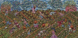 """Plantacao"" (Plantation), Maria Auxiliadora da Silva, 1971, part of the ""Samba Spirit"" exhibition Oil and mixed media on canvas ©The John Axelrod Collection—Frank B. Bemis Fund and Charles H. Bayley Fund * Photograph © Museum of Fine Arts, Boston"
