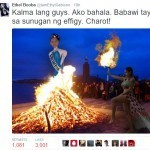 Ethel Booba 'burns' Colombian effigy