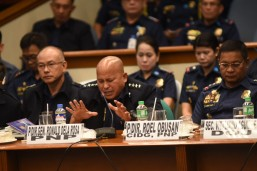 Dela Rosa cries while assuring senator there's no state policy on killings