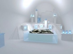 'Up There' suite for the Ice Hotel by Ateliers de Germain ©Ateliers de Germain all rights reserved