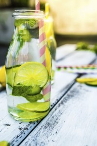 Liven up a glass of water with flavors and colors