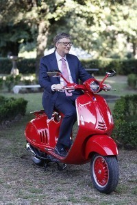 Vespa (Red) and Bill Gates fight AIDS