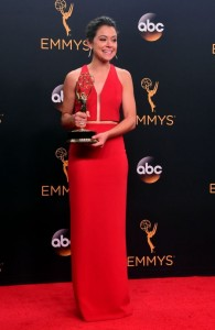 Emmys red carpet: red, black, yellow… and cleavage