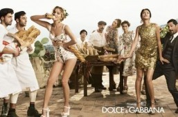 The Dolce & Gabbana Spring-Summer 2014 campaign places Eva Herzigova and Bianca Balti in the heart of Sicily. ©Domenico Dolce