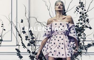 Daria Werbowy for Balenciaga Spring-Summer 2014 ©Facebook.com/Balenciaga