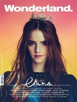 Emma Watson on the front cover of Wonderland ©Wonderland - Facebook (http://www.facebook.com/WonderlandMagazine)