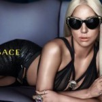 Lady Gaga poses once again for Versace