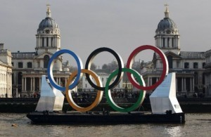 Olympics: Giant rings mark 150 days to Olympics