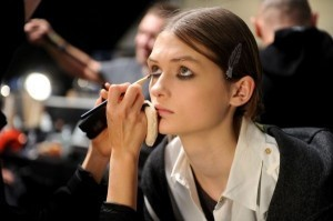 New York Fashion Week beauty: Victory rolls and red eyeshadow