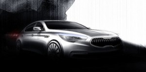 Kia unveils first images of new flagship sedan