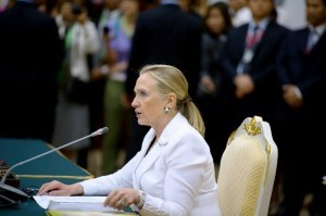China state media accuses Clinton of 'meddling'