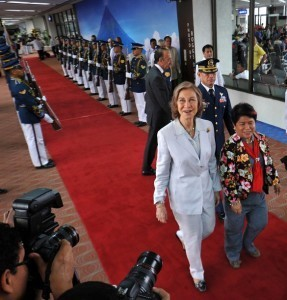 Spain's Queen Sofia arrives in Philippines