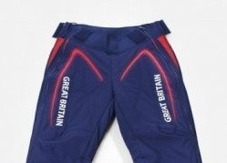 British track cyclists keep warm with Adidas 'hot pants'
