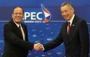 Aquino thanks Singaporean Prime Minister for support over the country's claim in West Philippine Sea