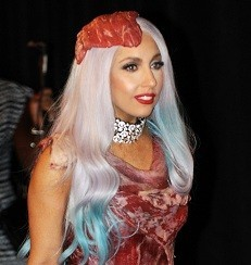 Lady Gaga's meat gown goes on display in Seattle, other cities