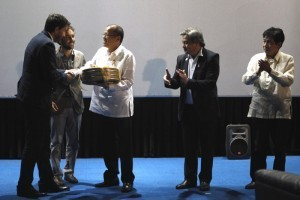 President Aquino attends premiere showing of newly-restored 1950 film 'Genghis Khan' by Manuel Conde