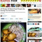 Hurricane Sandy survivors post photos of their 'storm meals'