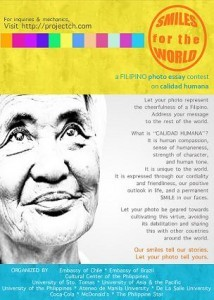 """SMILES FOR THE WORLD"": A FILIPINO ESSAY CONTEST ON CALIDAD HUMANA"