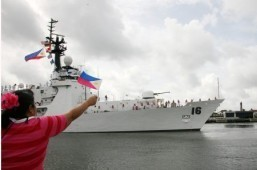BRP Alcaraz brings 123.7 tons of relief goods to Leyte