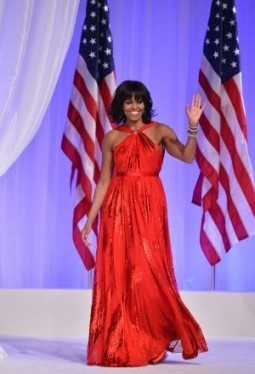 Michelle Obama stays true to Jason Wu for inaugural gown