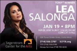Tony® and Olivier Award Winner Lea Salonga Debuts in Segerstrom Center's Cabaret Series