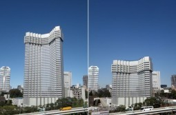 Tokyo hotel shrinks in new-style urban demolition